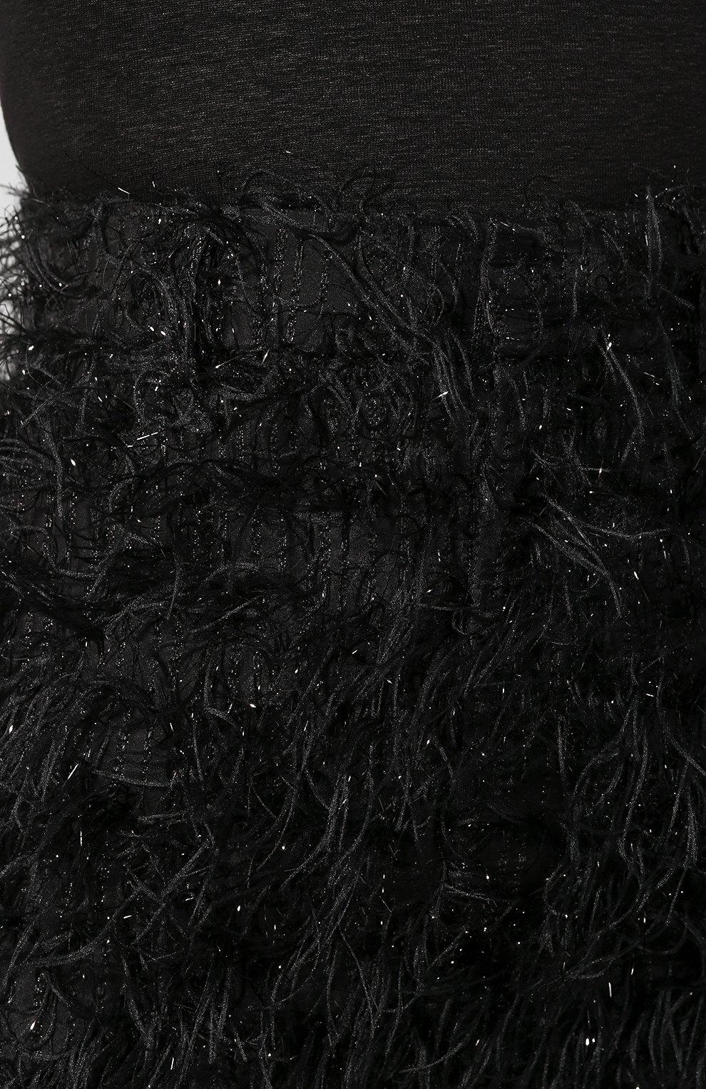 Женская юбка AMI черного цвета, арт. E20FSK100.250 | Фото 5