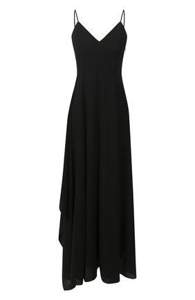 Женское шерстяное платье AMI черного цвета, арт. E20FR101.415 | Фото 1