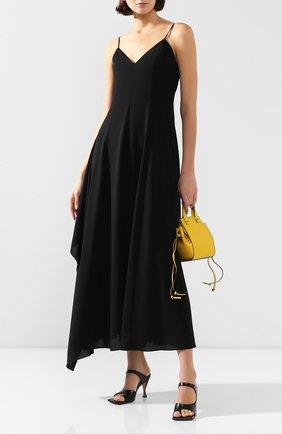 Женское шерстяное платье AMI черного цвета, арт. E20FR101.415 | Фото 2