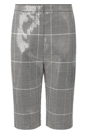 Женские шорты с пайетками IN THE MOOD FOR LOVE серого цвета, арт. EDUARD0 SH0RT | Фото 1