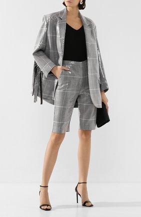 Женские шорты с пайетками IN THE MOOD FOR LOVE серого цвета, арт. EDUARD0 SH0RT | Фото 2
