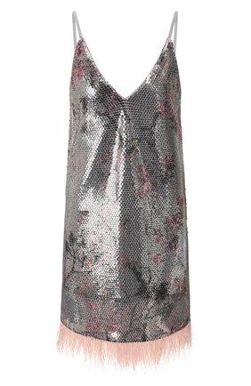 Женское платье с пайетками IN THE MOOD FOR LOVE серебряного цвета, арт. MELL0 DRESS | Фото 1