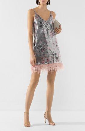 Женское платье с пайетками IN THE MOOD FOR LOVE серебряного цвета, арт. MELL0 DRESS | Фото 2