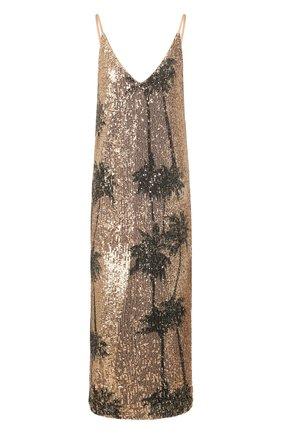 Женское платье с пайетками IN THE MOOD FOR LOVE золотого цвета, арт. TAR0T DRESS | Фото 1