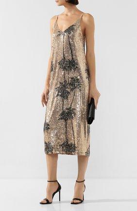 Женское платье с пайетками IN THE MOOD FOR LOVE золотого цвета, арт. TAR0T DRESS | Фото 2