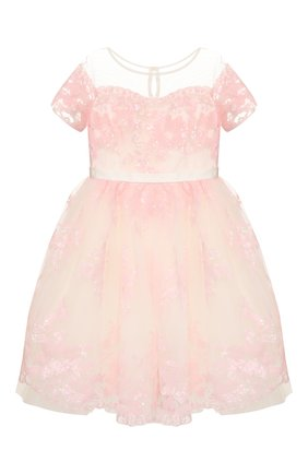 Детское платье MONNALISA розового цвета, арт. 775902   Фото 1