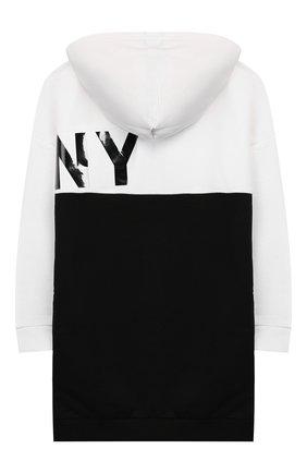 Детский хлопковая толстовка DKNY черно-белого цвета, арт. D35Q65/09B SS20 | Фото 2