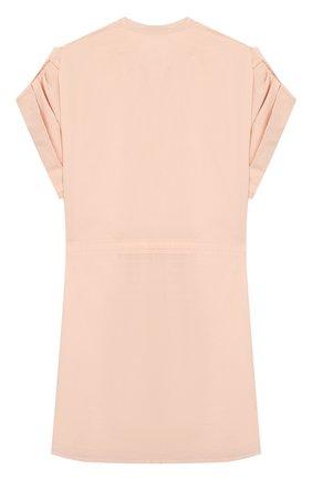 Детское шелковое платье CHLOÉ светло-розового цвета, арт. C12769 | Фото 2