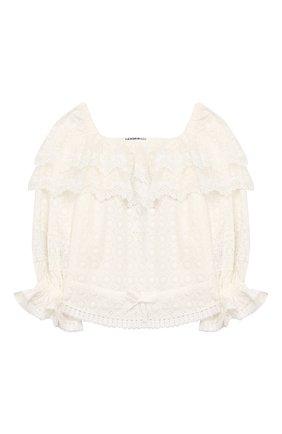 Детское хлопковая блузка YUDASHKIN KIDS белого цвета, арт. 420-KTGE-455070 | Фото 1