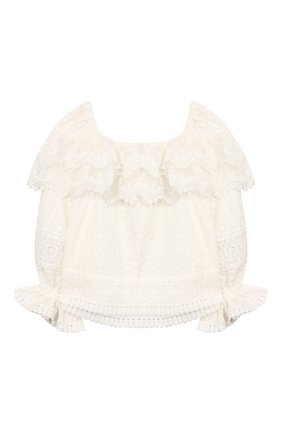Детское хлопковая блузка YUDASHKIN KIDS белого цвета, арт. 420-KTGE-455070 | Фото 2