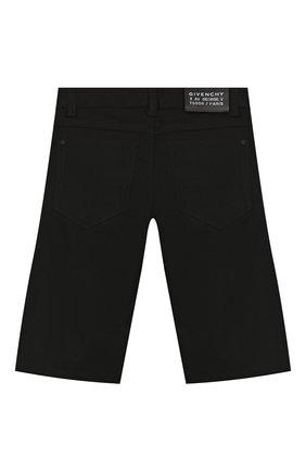 Детские шорты GIVENCHY черного цвета, арт. H24084   Фото 2