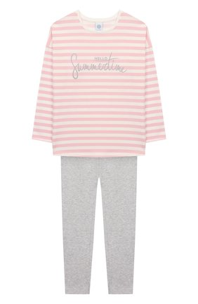 Детская хлопковая пижама SANETTA розового цвета, арт. 244642 3526 | Фото 1