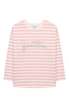 Детская хлопковая пижама SANETTA розового цвета, арт. 244642 3526 | Фото 2