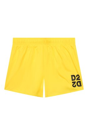 Детские плавки-шорты DSQUARED2 желтого цвета, арт. DQ044K-D00QK | Фото 1
