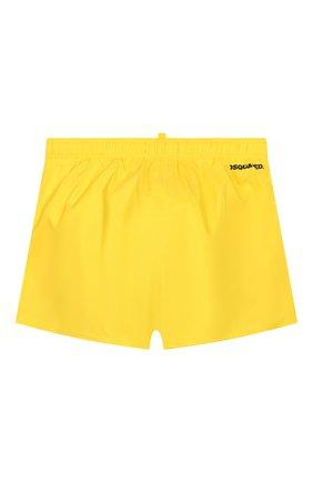Детские плавки-шорты DSQUARED2 желтого цвета, арт. DQ044K-D00QK | Фото 2