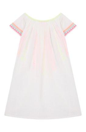Детская хлопковая туника SUNUVA белого цвета, арт. S2370/1-6 | Фото 2