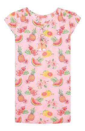 Детская хлопковая туника SUNUVA розового цвета, арт. S2234/1-6   Фото 1