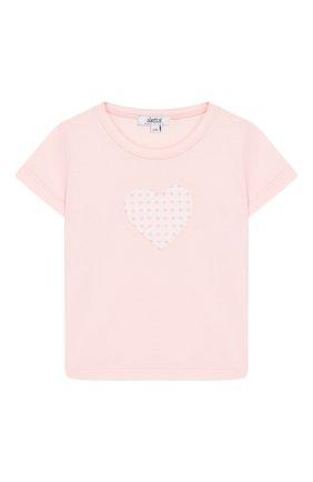 Детский хлопковая футболка ALETTA розового цвета, арт. RF00313/1M-2A | Фото 1