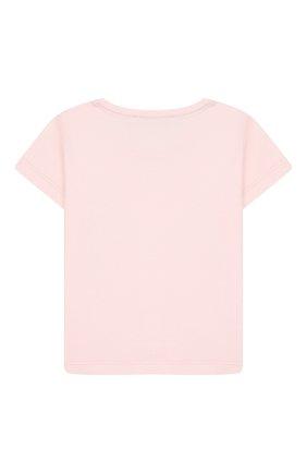 Детский хлопковая футболка ALETTA розового цвета, арт. RF00313/1M-2A | Фото 2