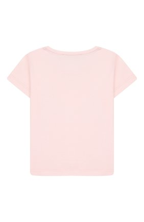 Детский хлопковая футболка ALETTA розового цвета, арт. RF00313/3A-6A | Фото 2