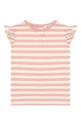 Детский хлопковая футболка ALETTA розового цвета, арт. RW00257B/12M-2A | Фото 1