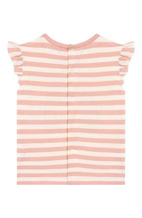 Детский хлопковая футболка ALETTA розового цвета, арт. RW00257B/12M-2A | Фото 2