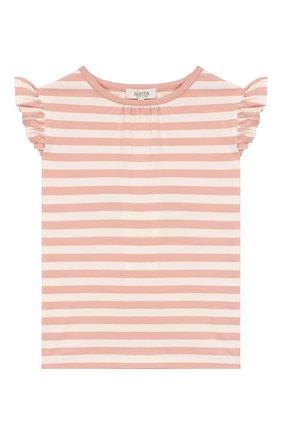 Детский хлопковая футболка ALETTA розового цвета, арт. RW00257B/3A-8A | Фото 1