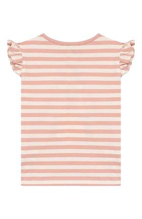 Детский хлопковая футболка ALETTA розового цвета, арт. RW00257B/3A-8A | Фото 2
