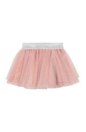 Детская хлопковая юбка ALETTA розового цвета, арт. RW00263/1M-2A | Фото 2