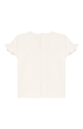 Детский хлопковая блузка ALETTA бежевого цвета, арт. RW00739/1M-2A | Фото 2
