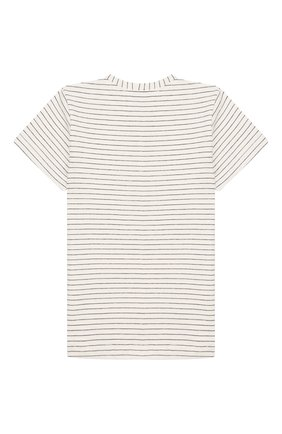 Детский хлопковая футболка ALETTA бежевого цвета, арт. RZ00241MC/3A-6A | Фото 2