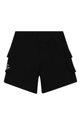 Детские хлопковые шорты BURBERRY черного цвета, арт. 8026201   Фото 2