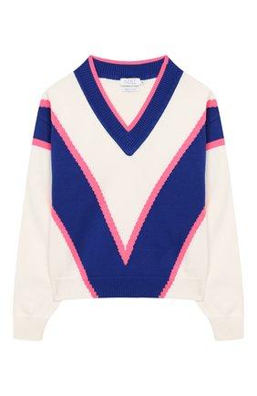 Детский хлопковый пуловер INDEE белого цвета, арт. GIULIA/ICE/12A-18A | Фото 1