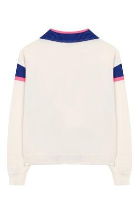 Детский хлопковый пуловер INDEE белого цвета, арт. GIULIA/ICE/12A-18A | Фото 2