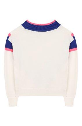 Детский хлопковый пуловер INDEE белого цвета, арт. GIULIA/ICE/8A-10A | Фото 2