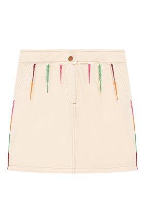 Детская джинсовая юбка INDEE бежевого цвета, арт. GL0RIA/ICE/8A-10A | Фото 1