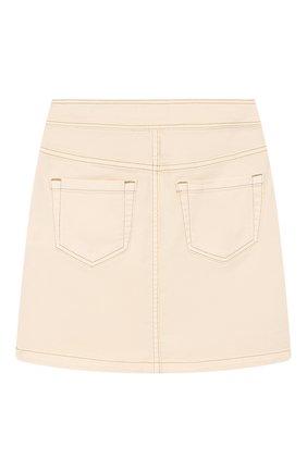 Детская джинсовая юбка INDEE бежевого цвета, арт. GL0RIA/ICE/8A-10A | Фото 2