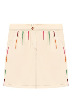 Детская джинсовая юбка INDEE бежевого цвета, арт. GL0RIA/ICE/12A-18A | Фото 1