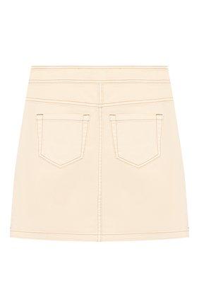 Детская джинсовая юбка INDEE бежевого цвета, арт. GL0RIA/ICE/12A-18A | Фото 2