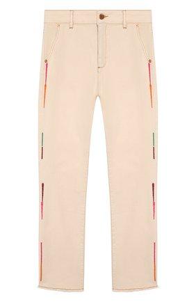 Детские джинсы INDEE бежевого цвета, арт. GLADYS/ICE/8A-10A | Фото 1