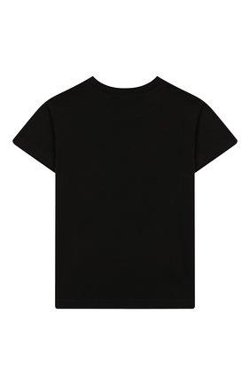 Детская хлопковая футболка NATASHA ZINKO черного цвета, арт. SS20DU0518-01/10-14 | Фото 2
