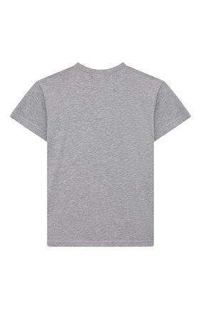 Детская хлопковая футболка NATASHA ZINKO серого цвета, арт. SS20DU0518-05/10-14   Фото 2