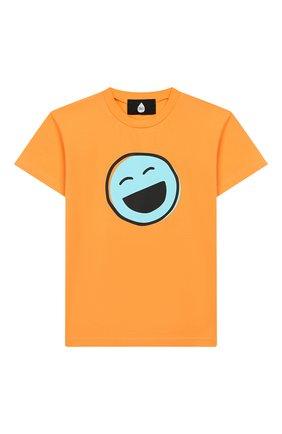 Детская хлопковая футболка NATASHA ZINKO оранжевого цвета, арт. SS20DU0518-86/10-14 | Фото 1