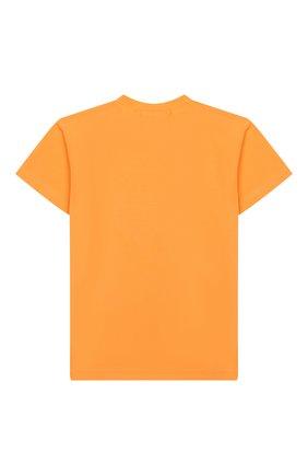 Детская хлопковая футболка NATASHA ZINKO оранжевого цвета, арт. SS20DU0518-86/10-14 | Фото 2