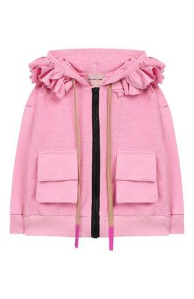 Детский хлопковая толстовка NATASHA ZINKO розового цвета, арт. SS20MNZ504-09/3-8 | Фото 1