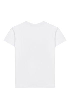 Детская хлопковая футболка NATASHA ZINKO белого цвета, арт. SS20MNZ507-06/10-14 | Фото 2