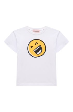 Детская хлопковая футболка NATASHA ZINKO белого цвета, арт. SS20MNZ507-06/3-8 | Фото 1
