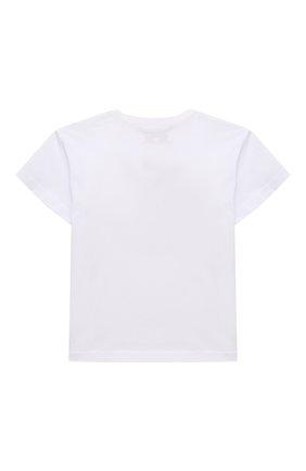 Детская хлопковая футболка NATASHA ZINKO белого цвета, арт. SS20MNZ507-06/3-8 | Фото 2