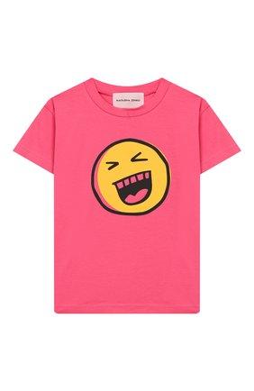Детская хлопковая футболка NATASHA ZINKO розового цвета, арт. SS20MNZ507-09/3-8 | Фото 1