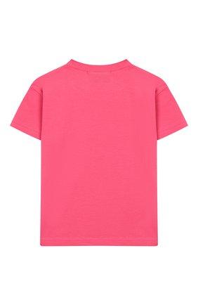 Детская хлопковая футболка NATASHA ZINKO розового цвета, арт. SS20MNZ507-09/3-8 | Фото 2
